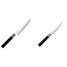Univerzální nôž KAI Wasabi Black (6715U), 150 mm + Steakový nôž...