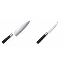 Wasabi Black Deba KAI 210mm + Steakový nôž KAI Wasabi Black,...