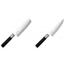 Wasabi Black Nakiri KAI 165mm + Wasabi Black Nôž šéfkuchára malý...