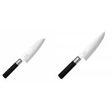 Wasabi Black Santoku KAI 165mm + Wasabi Black Nôž šéfkuchára...
