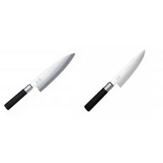 Wasabi Black Deba KAI 210mm + Wasabi Black Nôž šéfkuchára malý...