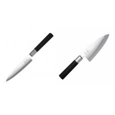 Plátkovací nůž KAI Wasabi Black Yanagiba, 155mm + Vykosťovací...