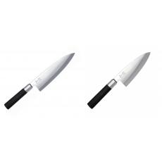Wasabi Black Deba KAI 210mm + Vykosťovací nůž KAI Wasabi Black...