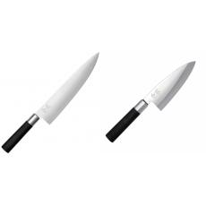 Wasabi Black Nôž šéfkuchára veľký KAI 230mm + Vykosťovací nůž...