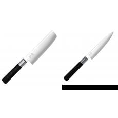 Wasabi Black Nakiri KAI 165mm + Univerzální nôž KAI Wasabi Black...