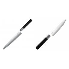 Plátkovací nůž KAI Wasabi Black Yanagiba, 210mm + Univerzální...