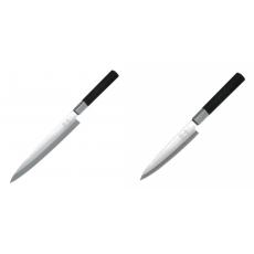 Plátkovací nůž KAI Wasabi Black Yanagiba, 210mm + Plátkovací nůž...