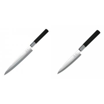 Plátkovací nůž KAI Wasabi Black Yanagiba, 210mm + Plátkovací nůž KAI Wasabi Black Yanagiba, 155mm