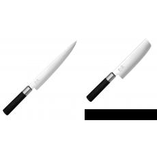 Nôž plátkovací KAI Wasabi Black, 230 mm + Wasabi Black Nakiri...