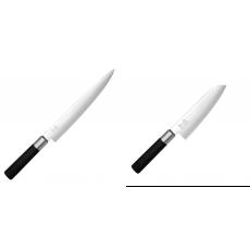 Nôž plátkovací KAI Wasabi Black, 230 mm + Wasabi Black Santoku...