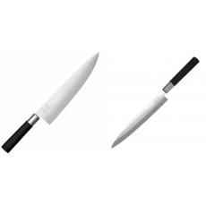 Wasabi Black Nôž šéfkuchára veľký KAI 230mm + Plátkovací nůž KAI...