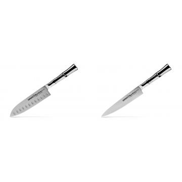 Malý Santoku nůž Samura Bamboo (SBA-0093), 137 mm + Univerzálny nôž Samura Bamboo (SBA-0023), 150 mm