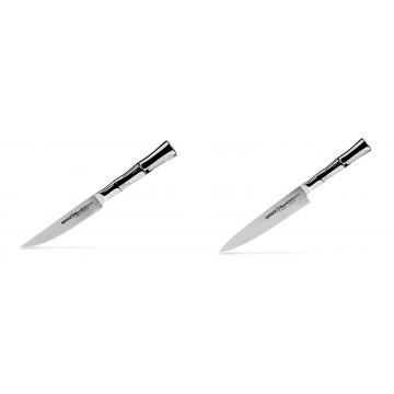 Steakový nůž Samura Bamboo (SBA-0031), 110 mm + Univerzálny nôž Samura Bamboo (SBA-0023), 150 mm