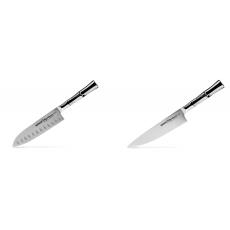 Malý Santoku nůž Samura Bamboo (SBA-0093), 137 mm + Šéfkucharský...