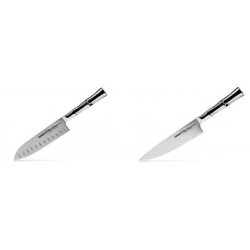 Malý Santoku nůž Samura Bamboo (SBA-0093), 137 mm + Šéfkucharský nôž Samura Bamboo (SBA-0085), 200 mm