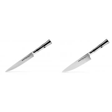 Filetovací nůž Samura Bamboo (SBA-0045), 200 mm + Šéfkucharský nôž Samura Bamboo (SBA-0085), 200 mm