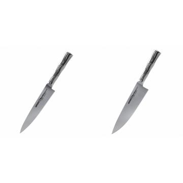 Univerzální nôž Samura Bamboo (SBA-0021), 125 mm + Šéfkucharský nôž Samura Bamboo (SBA-0085), 200 mm