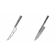 Nůž na sýr Samura Bamboo (SBA-0022), 135 mm + Šéfkucharský nôž...