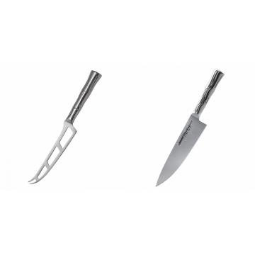 Nůž na sýr Samura Bamboo (SBA-0022), 135 mm + Šéfkucharský nôž Samura Bamboo (SBA-0085), 200 mm