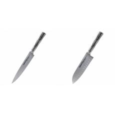 Filetovací nůž Samura Bamboo (SBA-0045), 200 mm + Malý Santoku...
