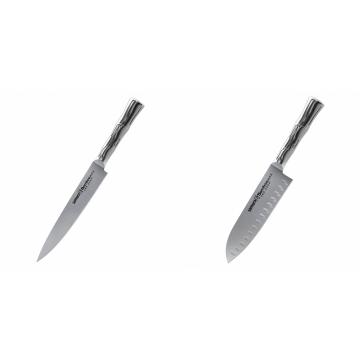 Filetovací nůž Samura Bamboo (SBA-0045), 200 mm + Malý Santoku nůž Samura Bamboo (SBA-0093), 137 mm