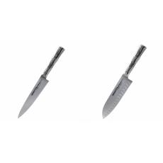 Univerzální nôž Samura Bamboo (SBA-0021), 125 mm + Malý Santoku...