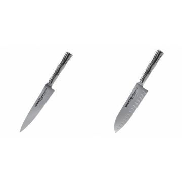 Univerzální nôž Samura Bamboo (SBA-0021), 125 mm + Malý Santoku nůž Samura Bamboo (SBA-0093), 137 mm