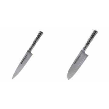 Univerzální nôž Samura Bamboo (SBA-0021), 125 mm + Santoku nůž Samura Bamboo (SBA-0094), 160 mm