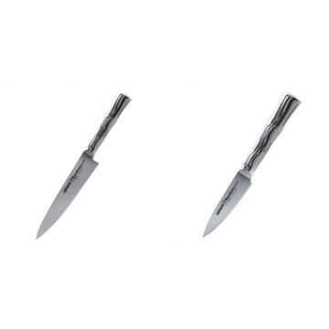Univerzální nôž Samura Bamboo (SBA-0021), 125 mm + Nůž na ovoce a zeleninu Samura Bamboo (SBA-0010), 80 mm