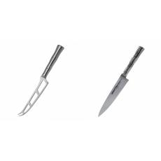 Nůž na sýr Samura Bamboo (SBA-0022), 135 mm + Univerzální nôž...