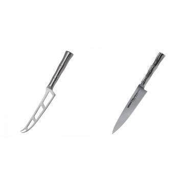 Nůž na sýr Samura Bamboo (SBA-0022), 135 mm + Univerzální nôž Samura Bamboo (SBA-0021), 125 mm