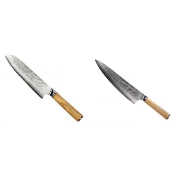 Santoku nôž Seburo HOKORI Damascus 180mm + Šéfkucharský nôž Seburo HOKORI Damascus 230mm