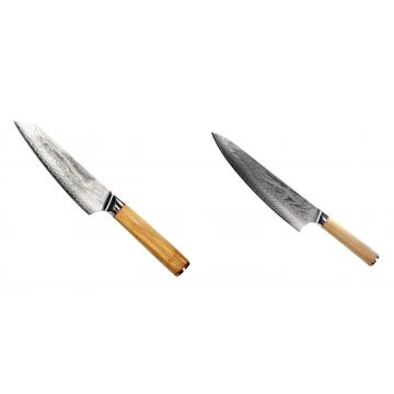 Šéfkucharský nôž Seburo HOKORI EDGE Damascus, 155mm + Šéfkucharský nôž Seburo HOKORI Damascus 230mm