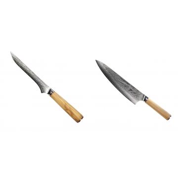 Vykosťovací nůž Seburo HOKORI Damascus 130mm + Šéfkucharský nôž Seburo HOKORI Damascus 230mm