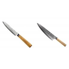 Univerzální nůž Seburo HOKORI EDGE Damascus 130mm + Šéfkucharský...
