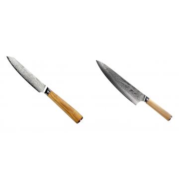 Univerzální nůž Seburo HOKORI EDGE Damascus 130mm + Šéfkucharský nôž Seburo HOKORI Damascus 230mm