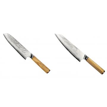 Santoku nôž Seburo HOKORI Damascus 180mm + Šéfkucharský nôž Seburo HOKORI EDGE Damascus 200mm