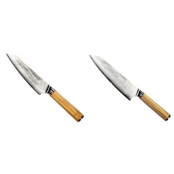 Šéfkucharský nôž Seburo HOKORI EDGE Damascus, 155mm + Šéfkucharský nôž Seburo HOKORI EDGE Damascus 200mm