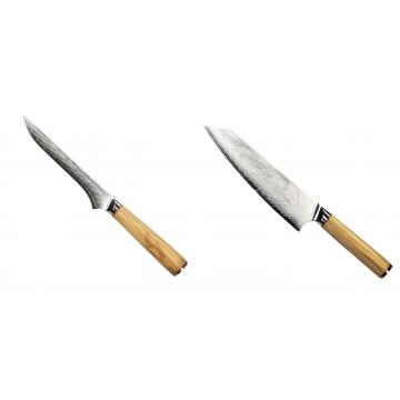 Vykosťovací nůž Seburo HOKORI Damascus 130mm + Šéfkucharský nôž Seburo HOKORI EDGE Damascus 200mm
