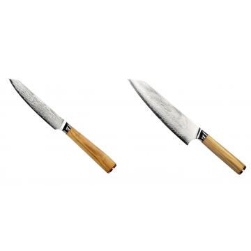 Univerzální nůž Seburo HOKORI EDGE Damascus 130mm + Šéfkucharský nôž Seburo HOKORI EDGE Damascus 200mm