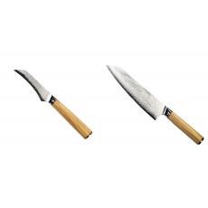 Loupací nůž Seburo HOKORI Damascus 90mm + Šéfkucharský nôž...