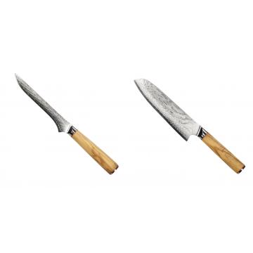 Vykosťovací nůž Seburo HOKORI Damascus 130mm + Santoku nôž Seburo HOKORI Damascus 180mm