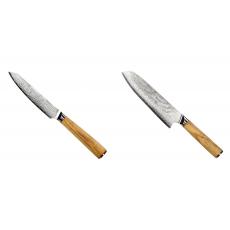 Univerzální nůž Seburo HOKORI EDGE Damascus 130mm + Santoku nôž...