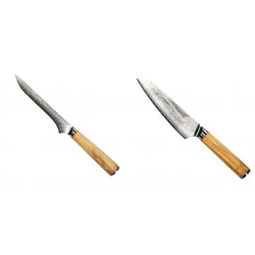 Vykosťovací nůž Seburo HOKORI Damascus 130mm + Šéfkucharský nôž Seburo HOKORI EDGE Damascus, 155mm