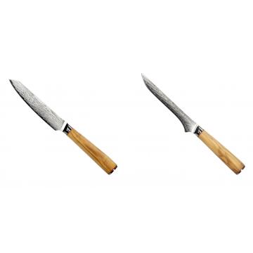 Univerzální nůž Seburo HOKORI EDGE Damascus 130mm + Vykosťovací nůž Seburo HOKORI Damascus 130mm