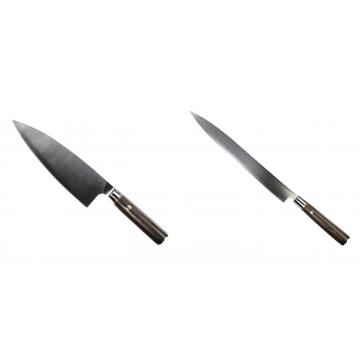 Kuchynský nôž Seburo MUTEKI Deba 200mm + Kuchynský nôž SEBURO MUTEKI Yanagiba 285mm