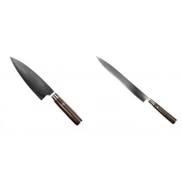 Kuchynský nôž Seburo MUTEKI Deba 180mm + Kuchynský nôž SEBURO MUTEKI Yanagiba 285mm