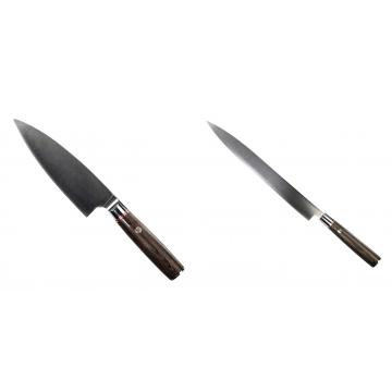 Kuchynský nôž Seburo MUTEKI Deba 160mm + Kuchynský nôž SEBURO MUTEKI Yanagiba 285mm