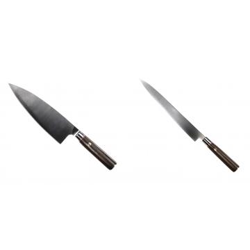 Kuchynský nôž Seburo MUTEKI Deba 200mm + Kuchynský nôž SEBURO MUTEKI Yanagiba 260mm