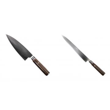 Kuchynský nôž Seburo MUTEKI Deba 180mm + Kuchynský nôž SEBURO MUTEKI Yanagiba 260mm